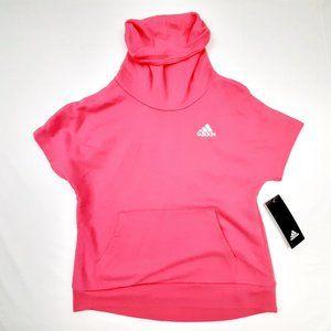 Adidas Girls Turtleneck Sweatshirt Short Sleeve Pi